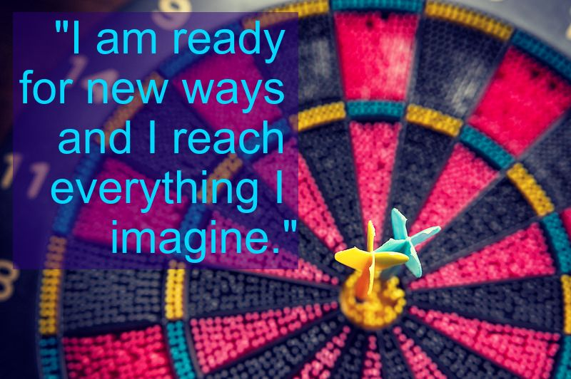 Dartboard & Goals Affirmation: