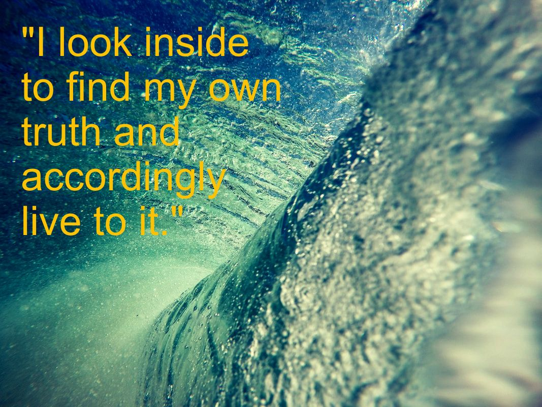 Inside of Wave - Spiritual Affirmation: