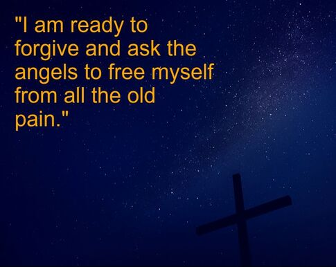 Nightly Sky, Cross, Spiritual Affirmation:
