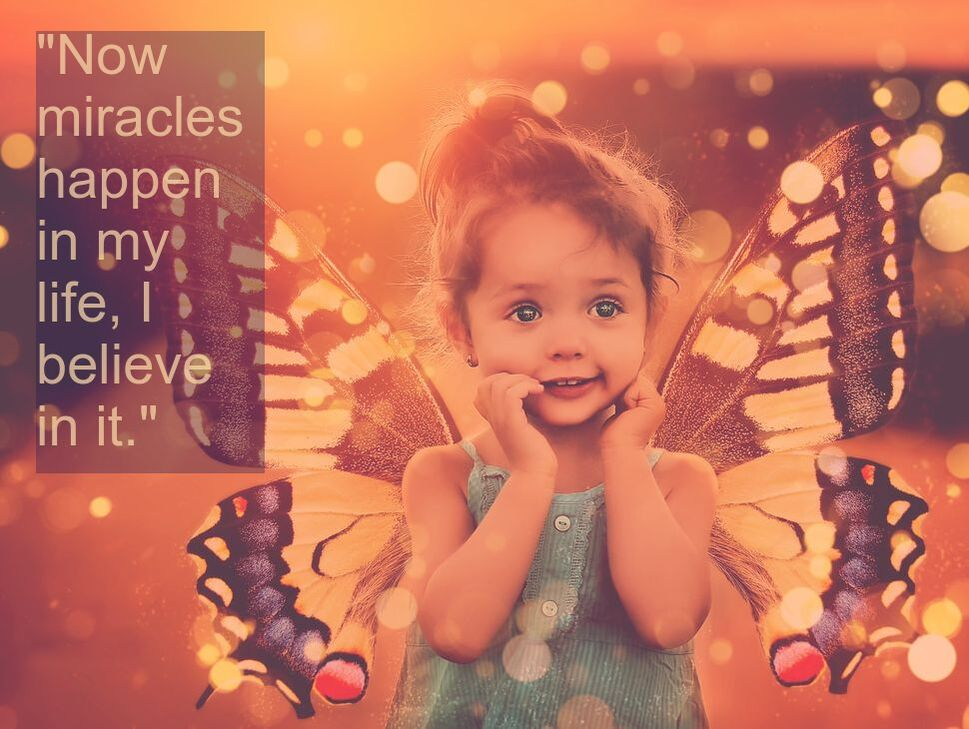 Fairy Child & Spiritual Affirmation: