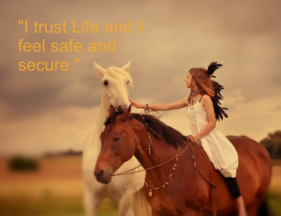 Girl and two Horses - Spiritual Affirmation of the Day: