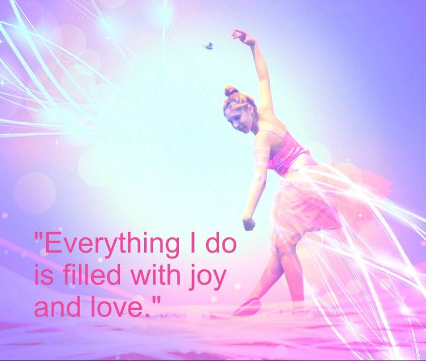 Ballet Dancer & Spiritual Affirmation: