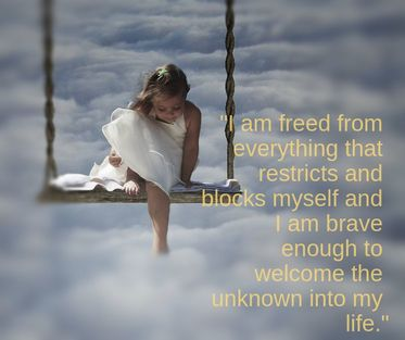 girl on clouds - spiritual affirmation:
