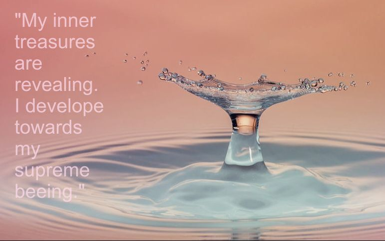Drop in the Water - Spiritual Affirmation: