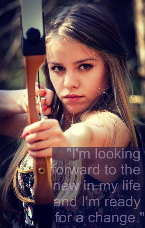 Girl Archer - Tarot Affirmation: