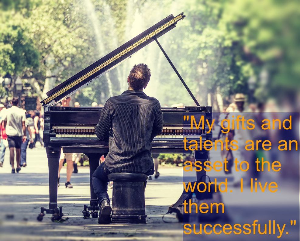 Piano Player in the Park - Spiritual Affirmation: