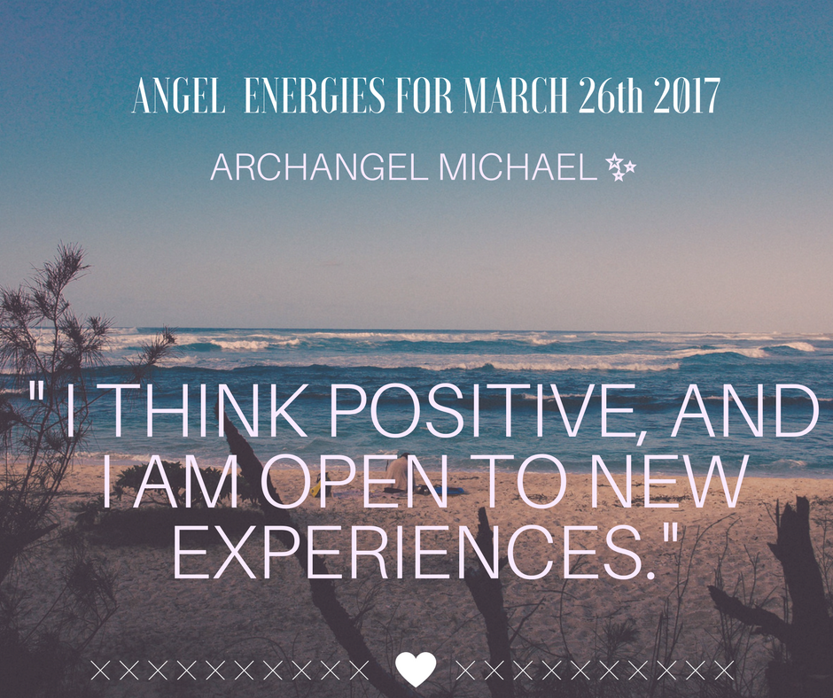 Tarot & Angel Energies - I think positive, and I am open to new experiences